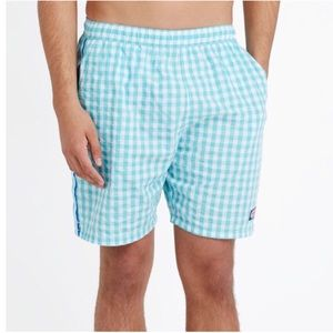 Vineyard Vines Gingham Chappy Swim Trunks